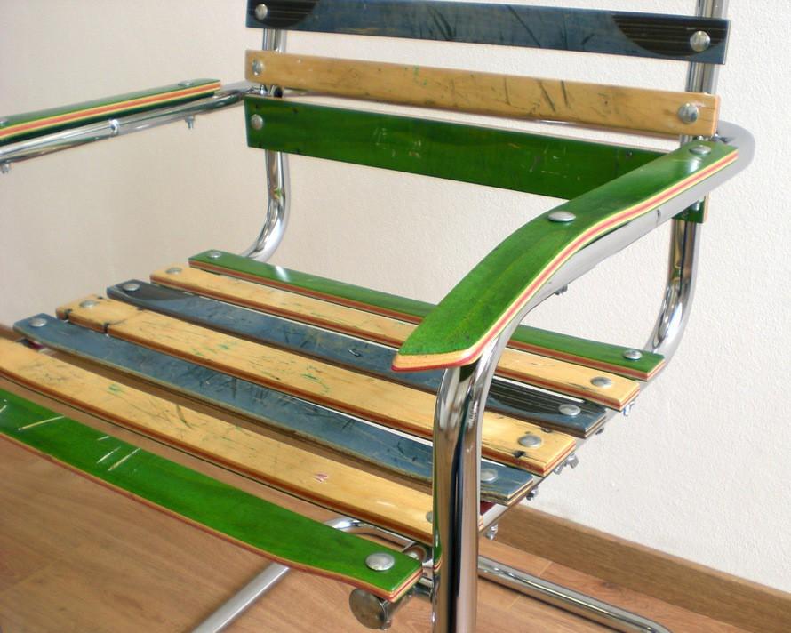 Upcycling design wettbewerb brett schwinger stuhl von for Stuhl upcycling