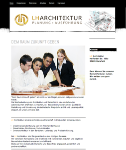 Web Design für  Architekten in Bielefeld. Design von colourform.