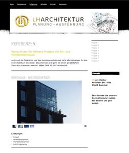Internet Seite für  Architekten in Bielefeld. Design von colourform.